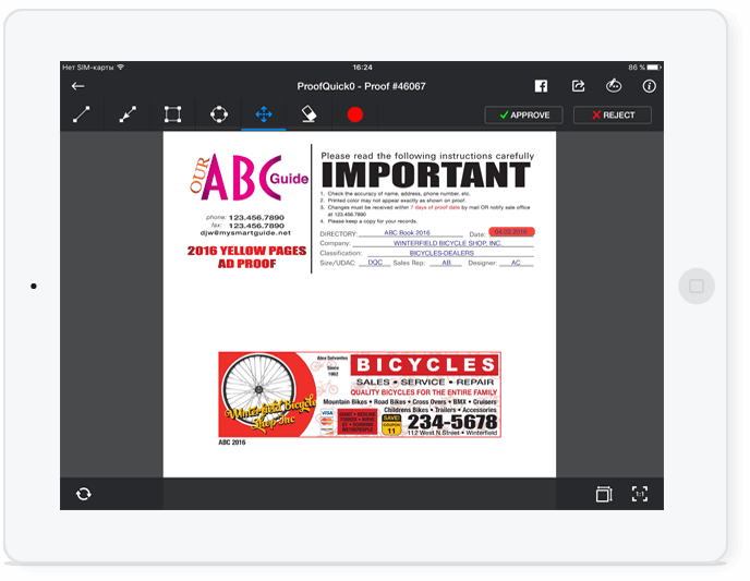 client proofing app for iPad iPhone